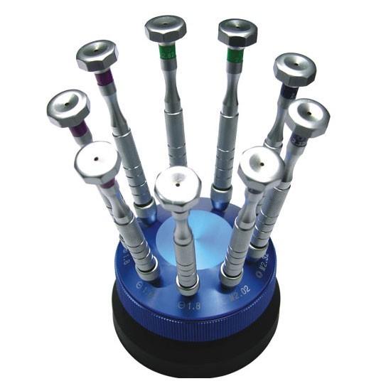 Schrauben und Mutternschlüsselsatz Optoshop im Rundständer.